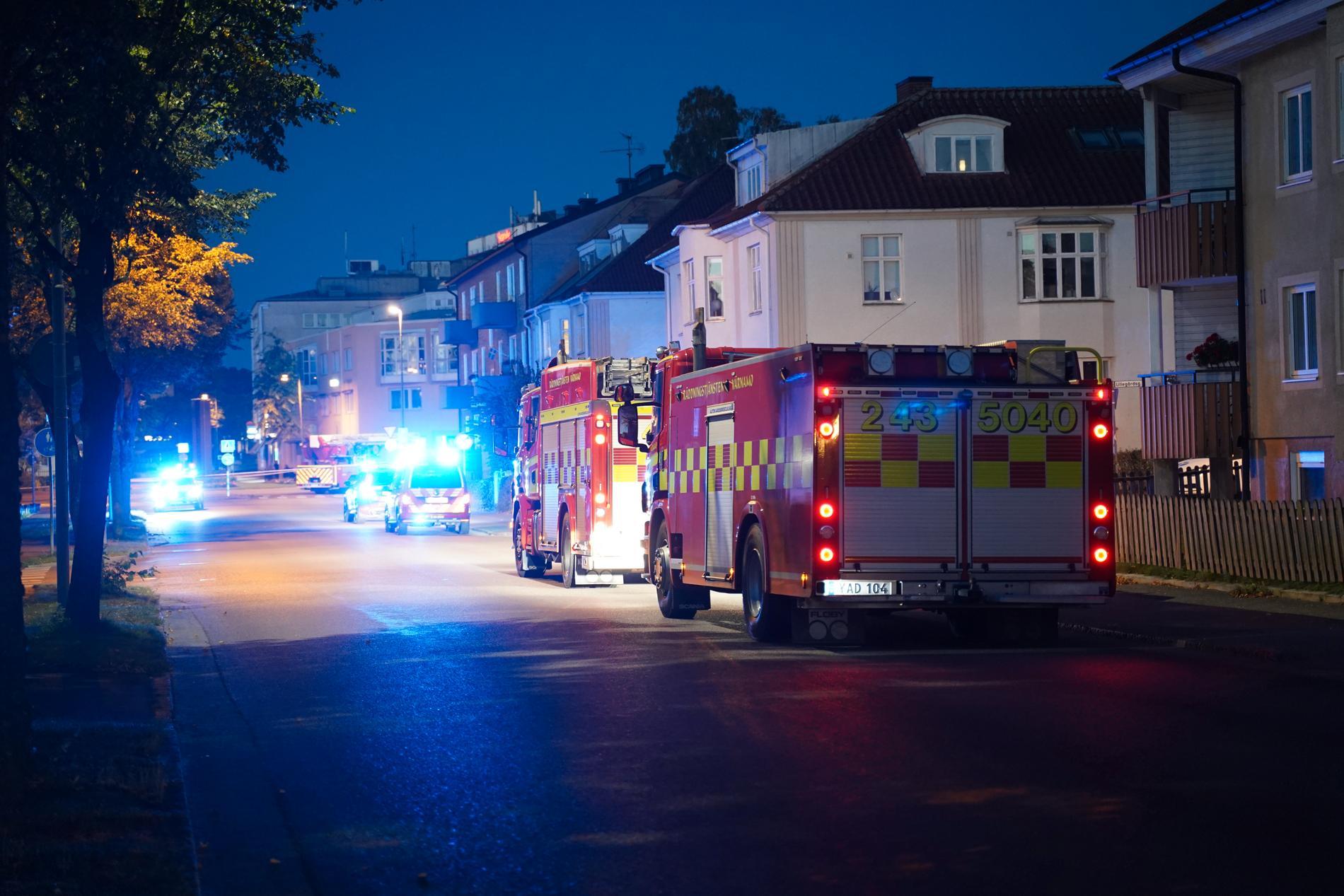 Det var vid 03-tiden som explosionen i Värnamo inträffade.
