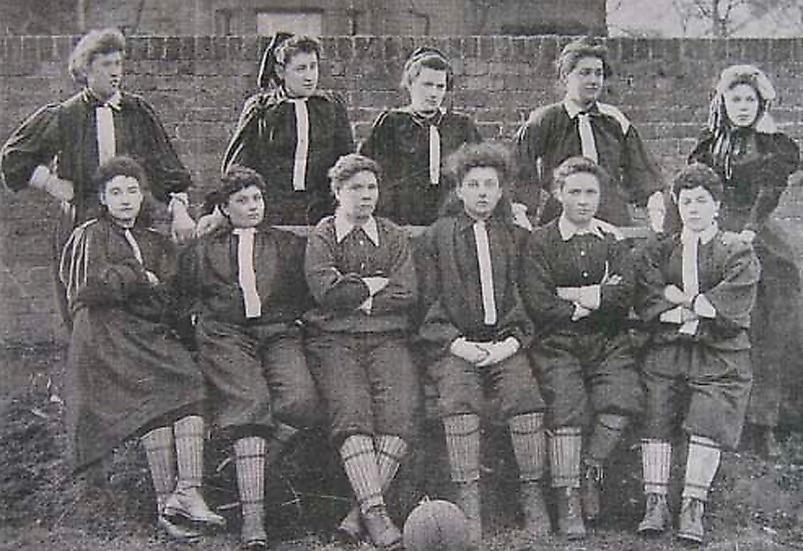 Pionjär Nettie Honeyball bildade British ladies FC i slutet av 1800-talet.