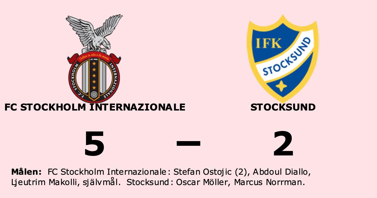 Formstarka FC Stockholm Internazionale tog ännu en seger