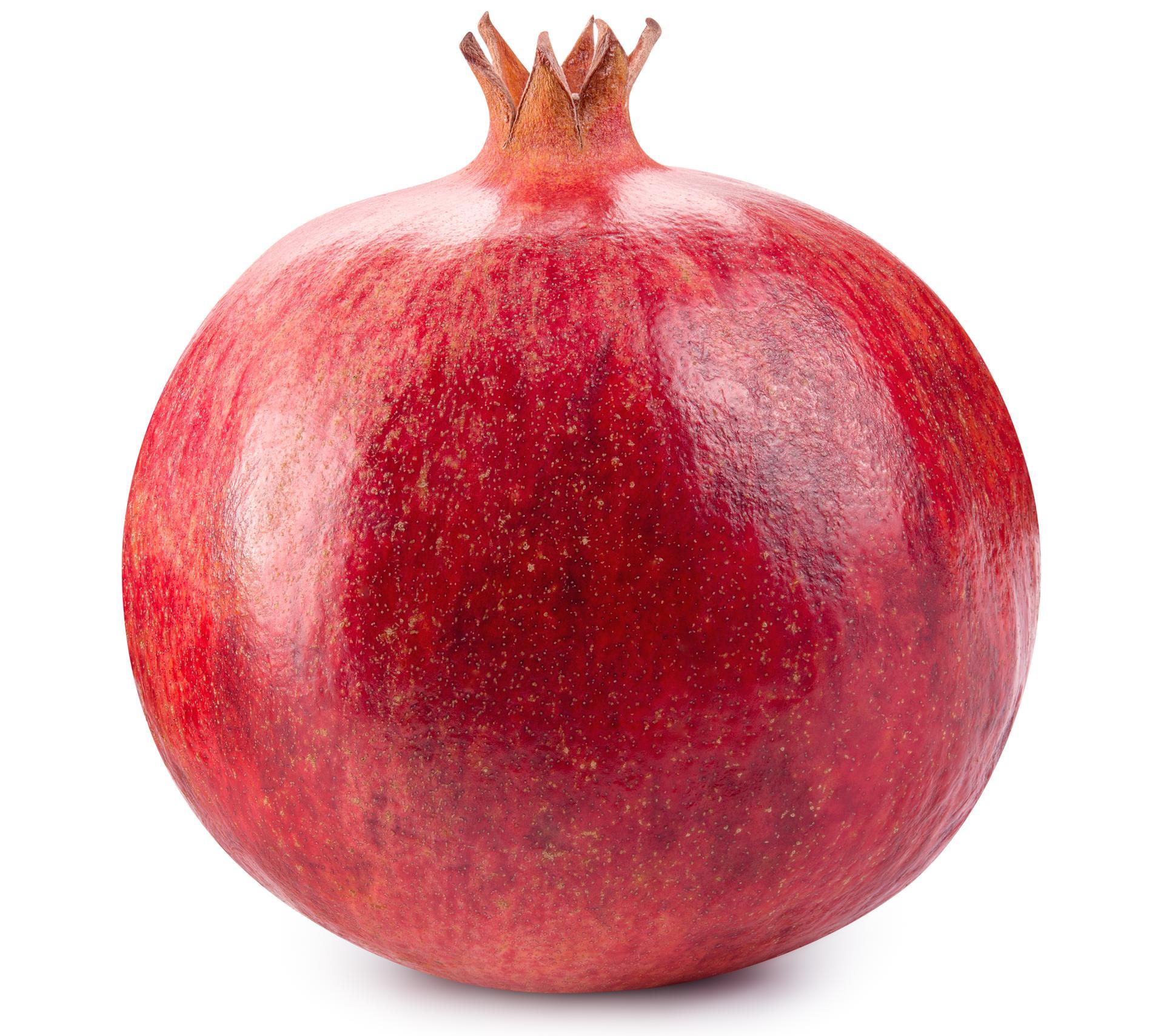 Fostret är stort som ett granatäpple.