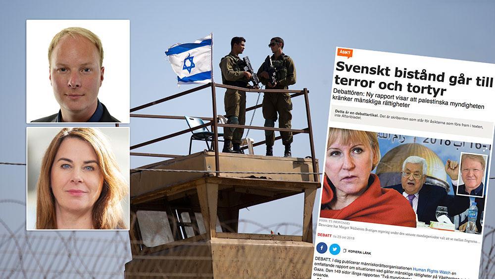 Inriktningen på det svenska biståndet - att stödja palestinsk statsbyggnad - har legat fast sedan 1990-talet. Arbetet riktas till att hjälpa det palestinska folket att forma en demokratisk, självständig palestinsk stat som samexisterar sida vid sida med Israel, skriver debattörerna.