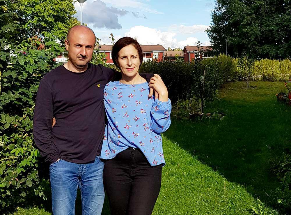 Bakhtiar och Shahla är tacksamma över all den hjälp Shahla fick efter att hon höll på att drunkna i Hökåsengropen i augusti.