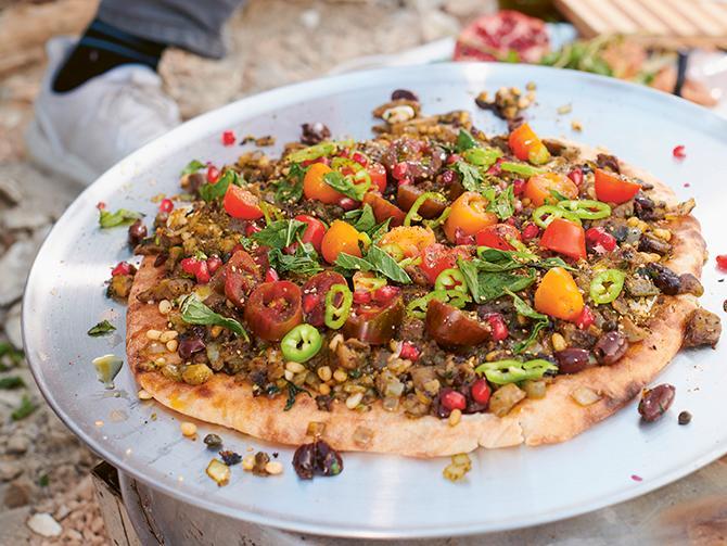 Tareq Taylors pizza som du gör i stekpanna.