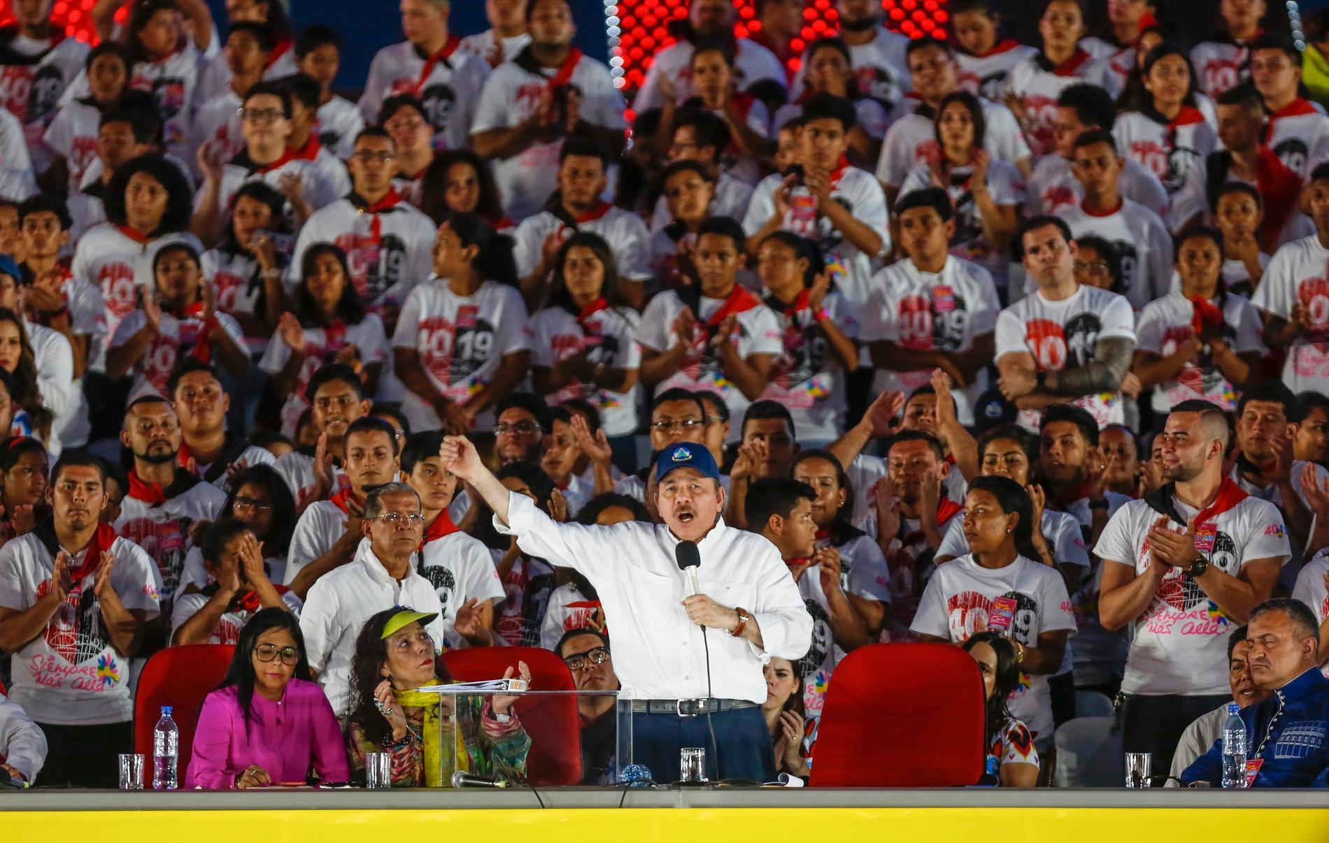 Nicaraguas President Daniel Ortega anklagas för att bli allt mer auktoritär. Arkivbild.