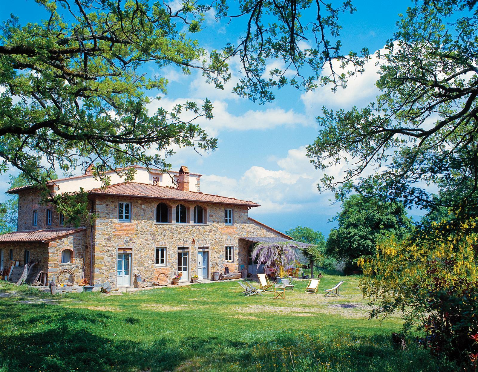 Det här huset i Toscana brukade vara en bondgård.