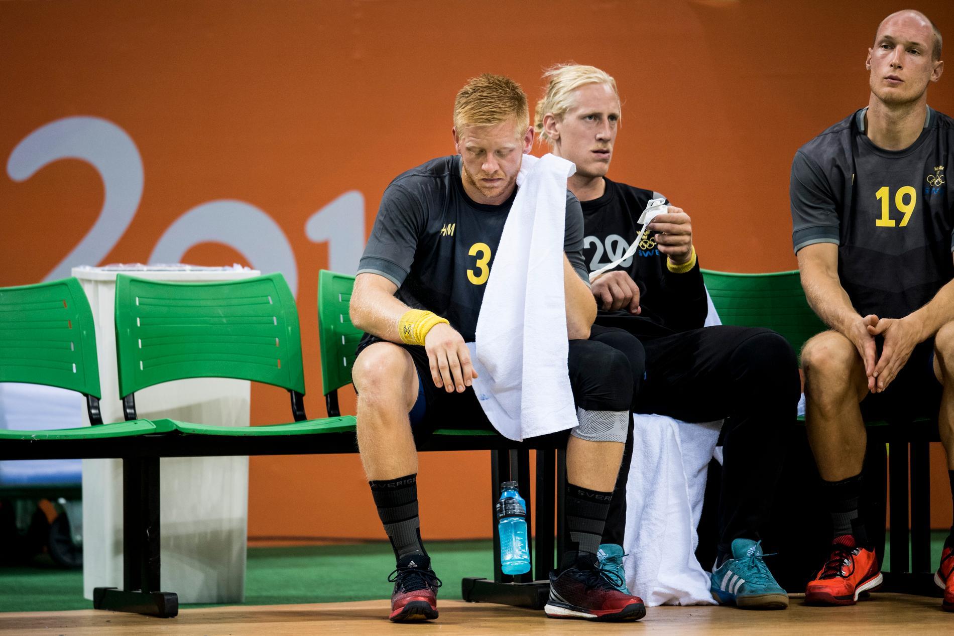 Jim Gottfridsson deppar efter förlusten mot Polen i OS 2016.