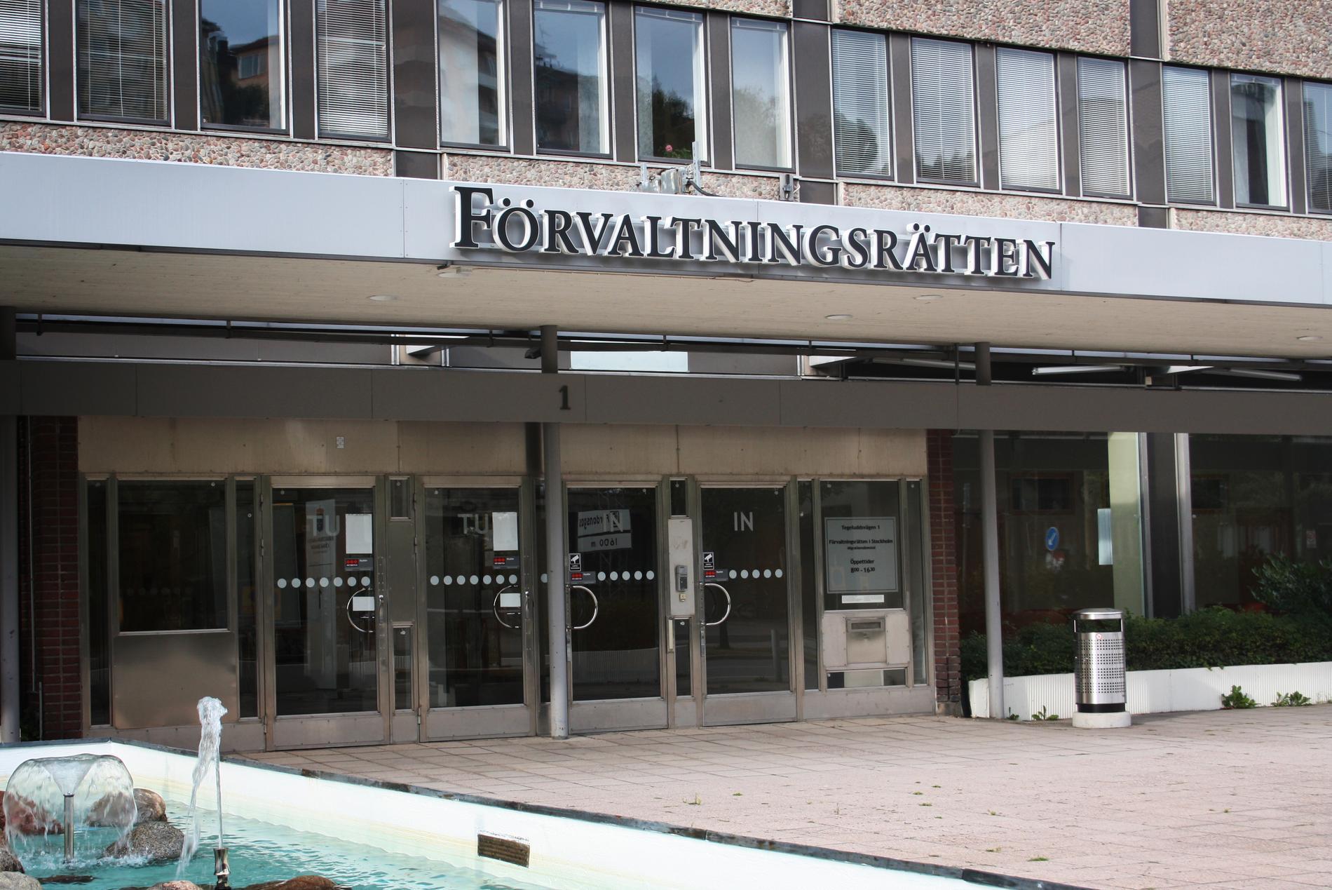 Förvaltningsrätten i Stockholm.