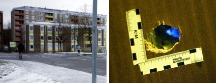 Lägenheten som blev beskjuten låg på Senapsgatan i norra Göteborg. Gärningsmännen ska ha använt hagelgevär.