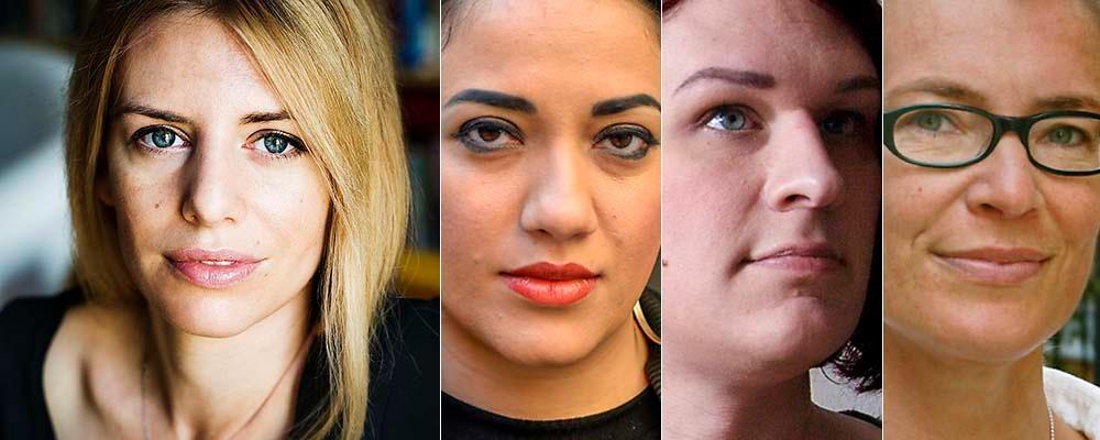 Kajsa Ekis Ekman, Athena Farroukhzad, Maria Ramnehill och Tiina Rosenberg.