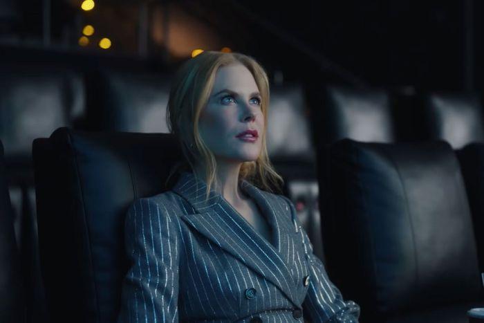 Nicole Kidman i reklamfilmen för nyöppnade biografer.