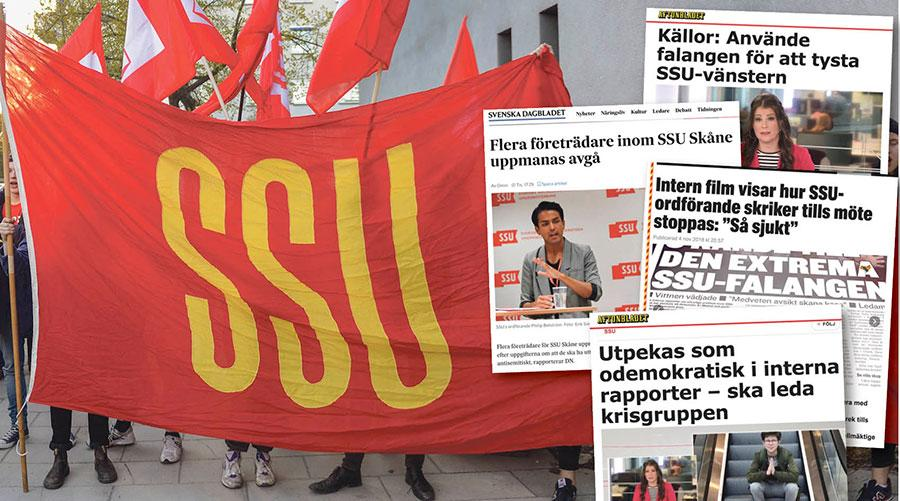 Det är i ljuset av en lång maktkamp i SSU Skåne som man ska läsa rapporteringen i media, skriver 33 representanter för SSU.