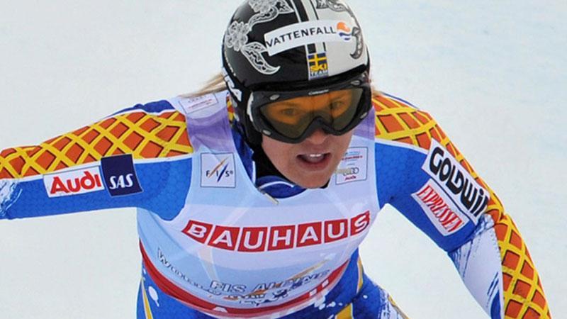 Anja Pärsson hade ingen lyckad träningsdag.