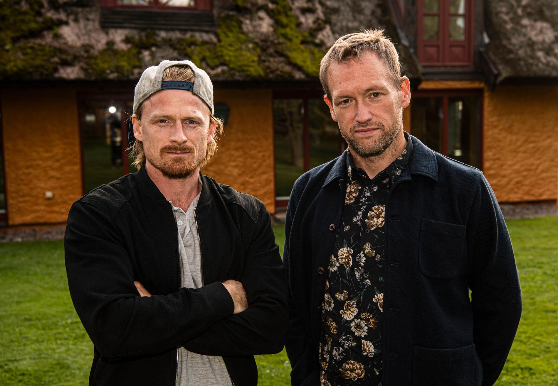 """Fotograf Jimmy Wixtröm och reporter Torbjörn Ek, Aftonbladets team på plats i Båstad för """"Mästarnas mästare""""."""