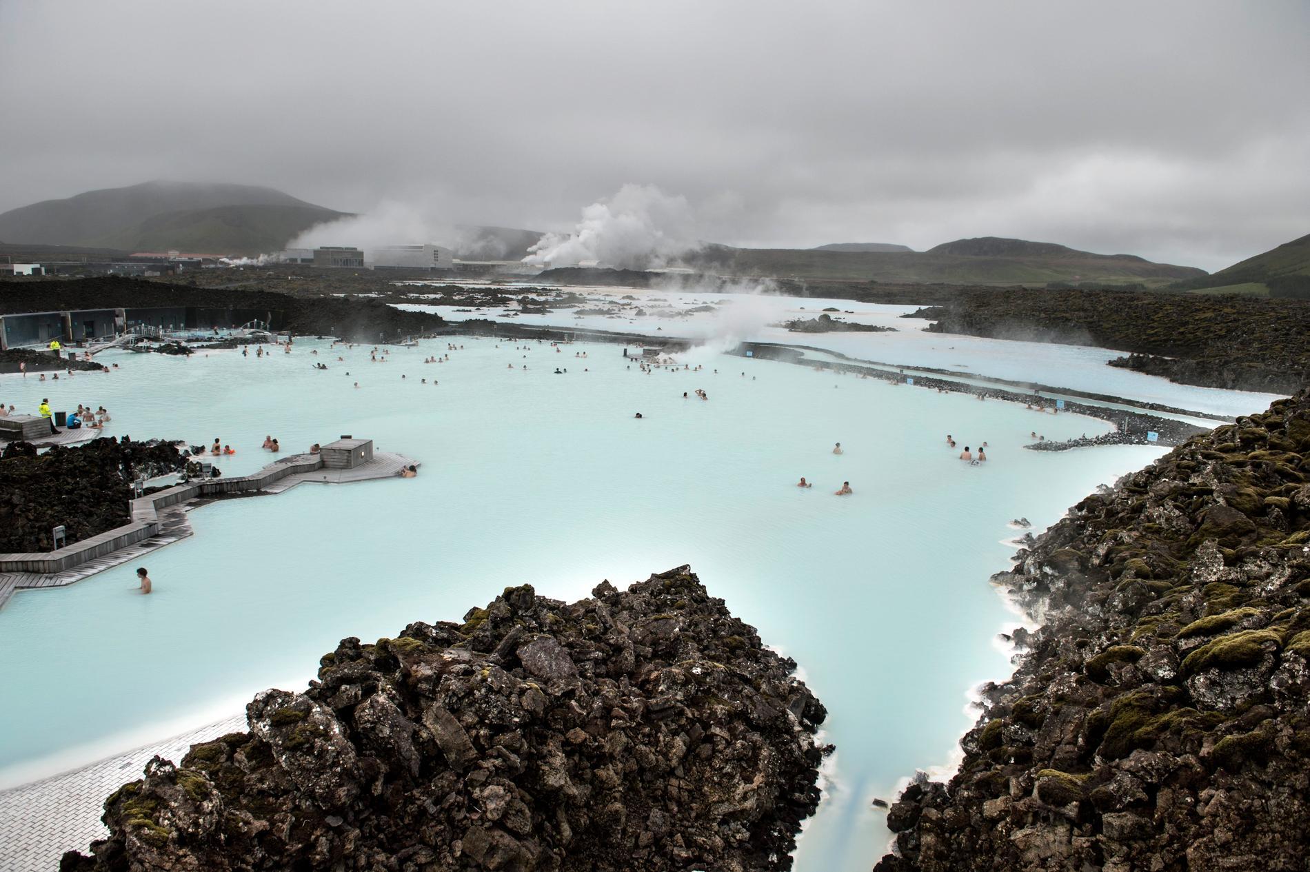 Blå lagunen söder om Reykjavik.