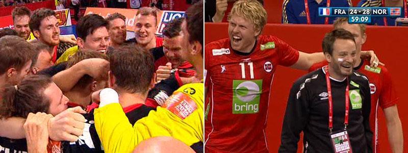 Både Tyskland och Norge skrällde sig vidare till semifinal.