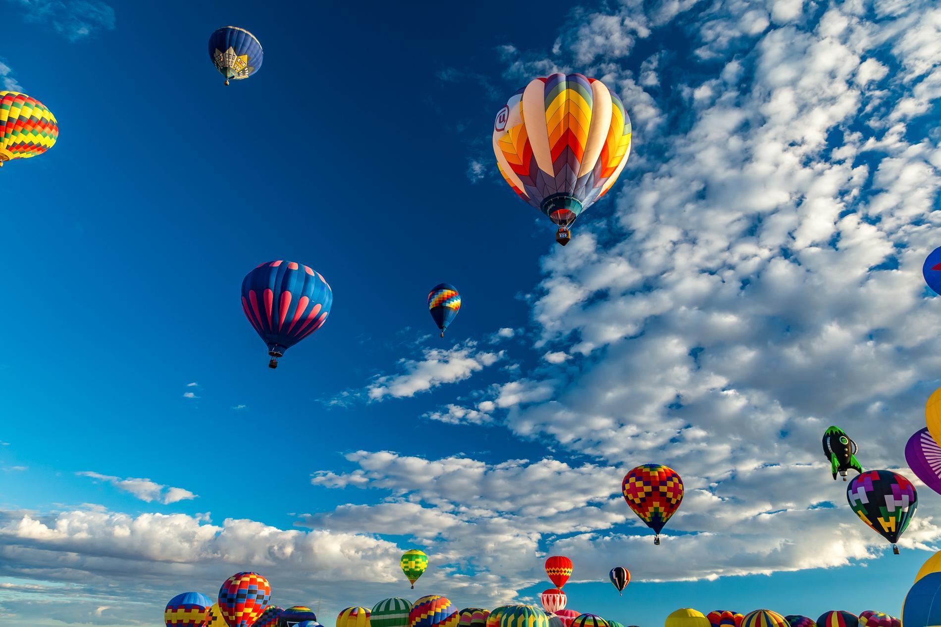 Såhär kan det se ut på The Albuquerque International Balloon Fiesta.