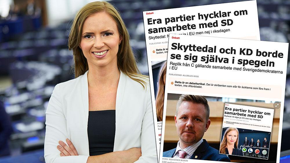 C har gång på gång kritiserat KD för att vi säger att vi är beredda att göra sakpolitiska uppgörelser med SD. Att de nu själva förhandlar med partier som är betydligt längre från svensk mittfåra än SD borde föranleda en del självrannsakan, skriver Sara Skyttedal (KD).