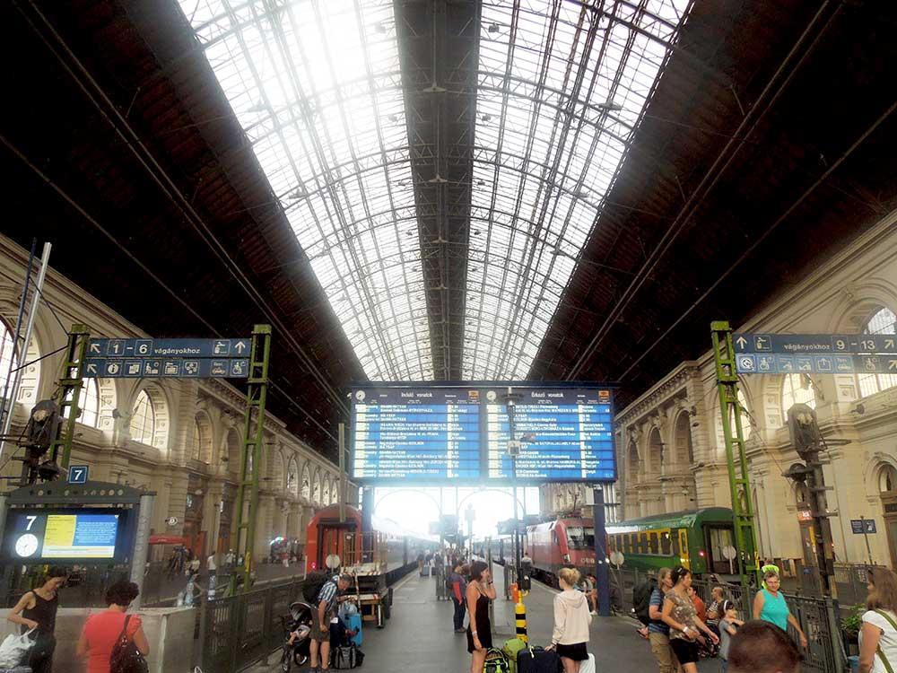 Centralstationen i Budapest.