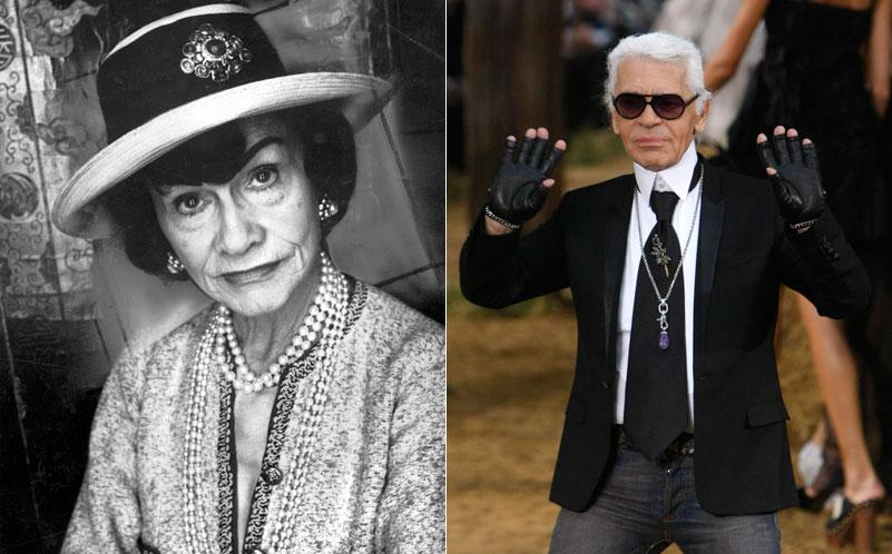 Coco Chanel och Karl Lagerfeld.