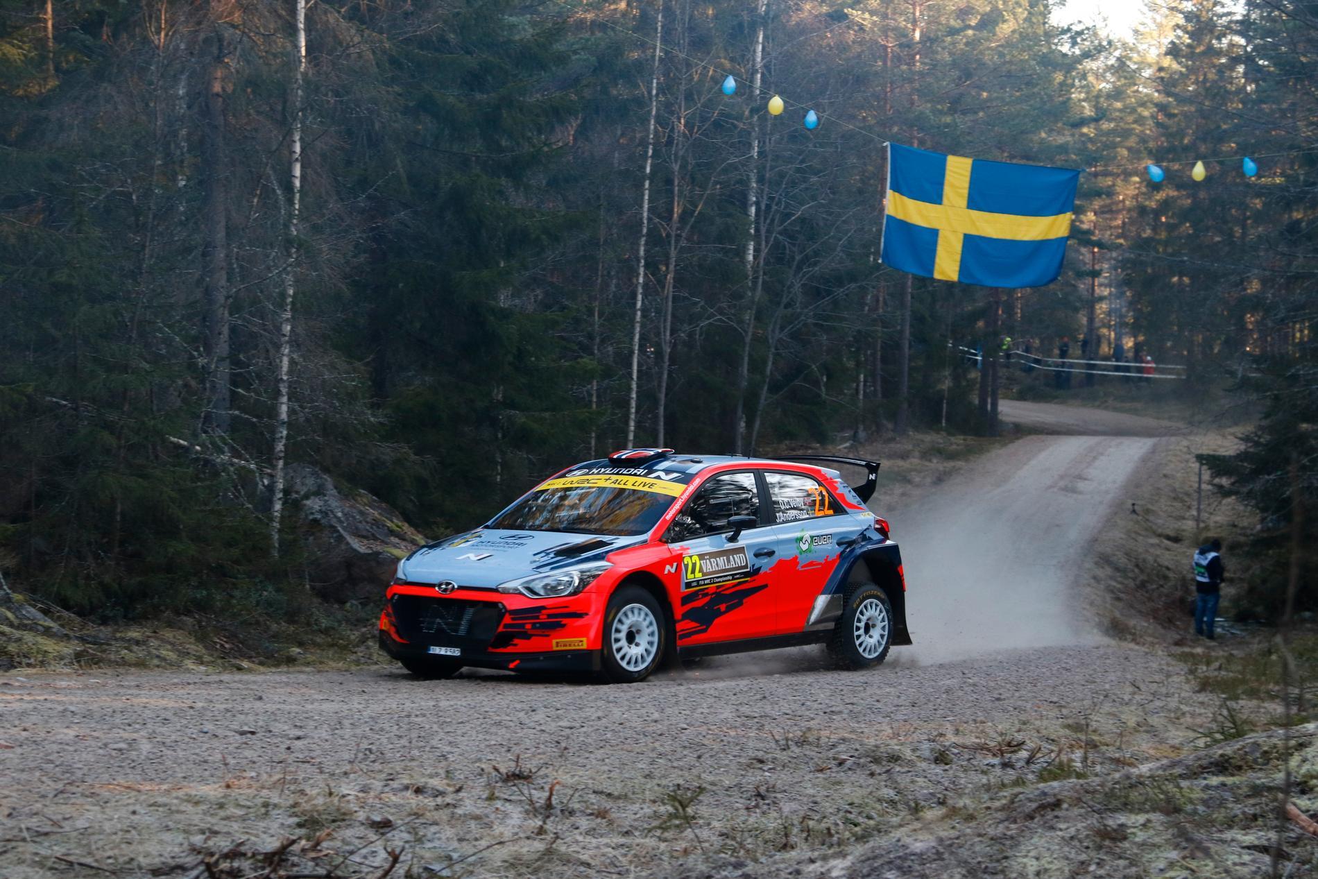 SM-rally-deltävlingen i Hässleholm körs inför publik. Arkivbild.