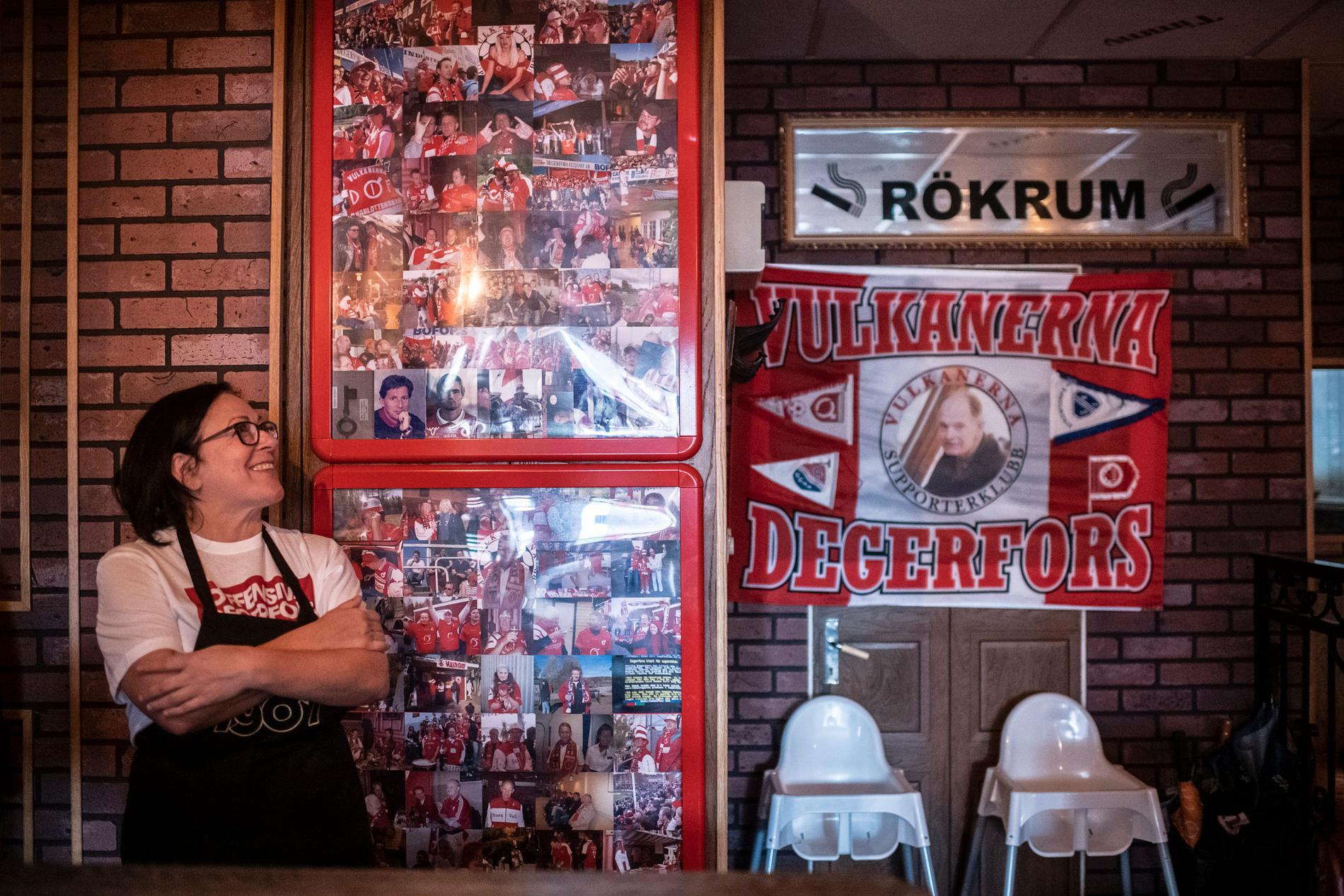 Ljiljana Cirics på hennes restaurang Bosna i Degerfors.