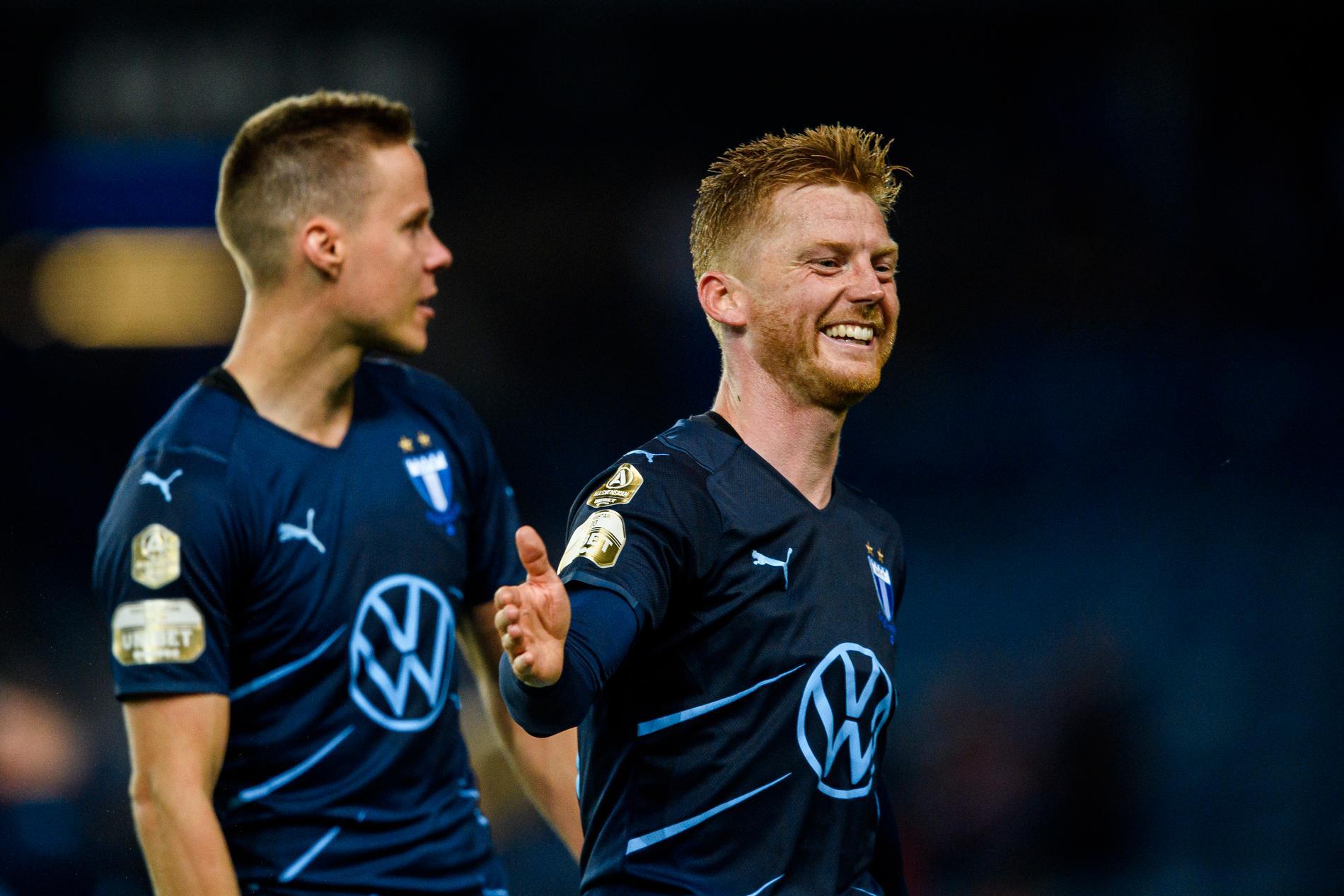 Anders Christiansen, till höger, har höga tankar om Malmös chanser i Champions League.
