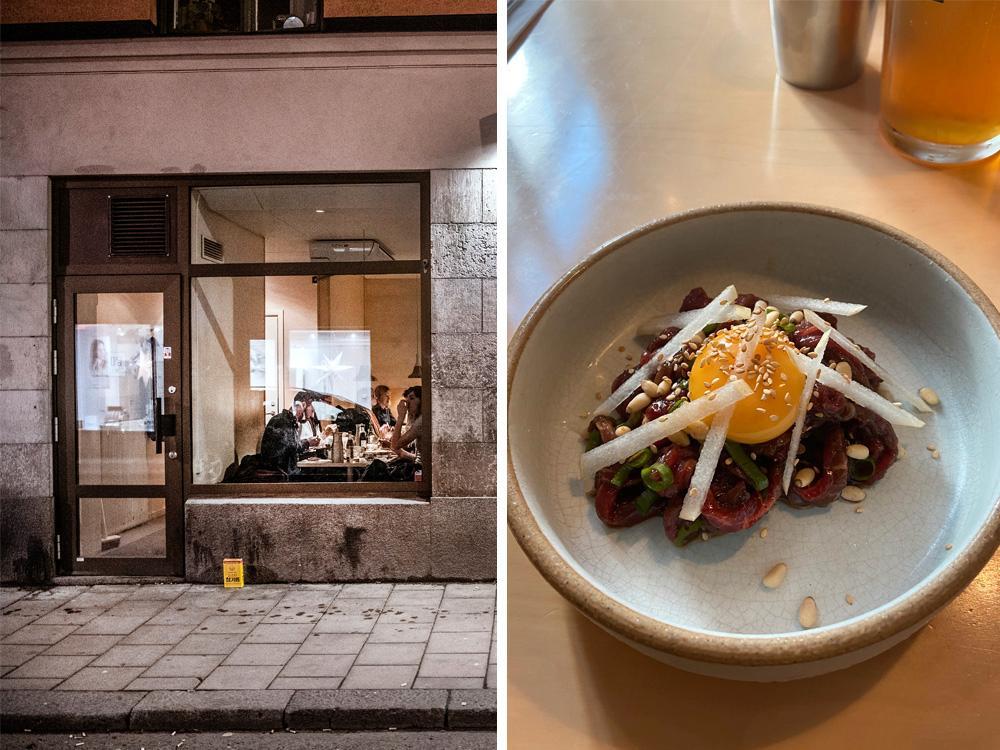 Minimalistiskt med smakrik koreansk mat på Madam i Stockholm.