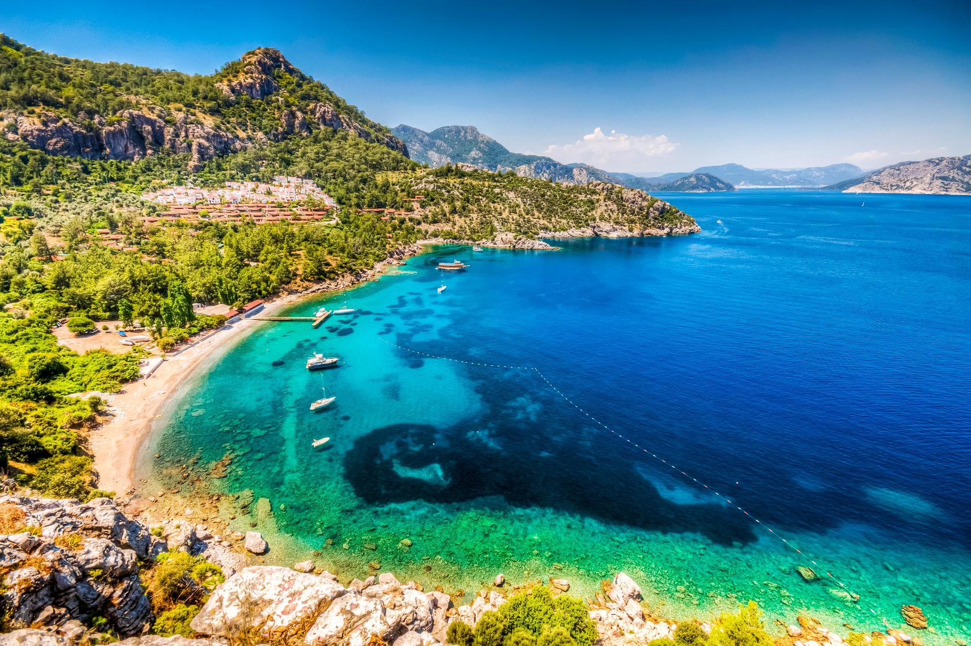 Marmaris i Turkiet är en av platserna dit resorna är billiga.
