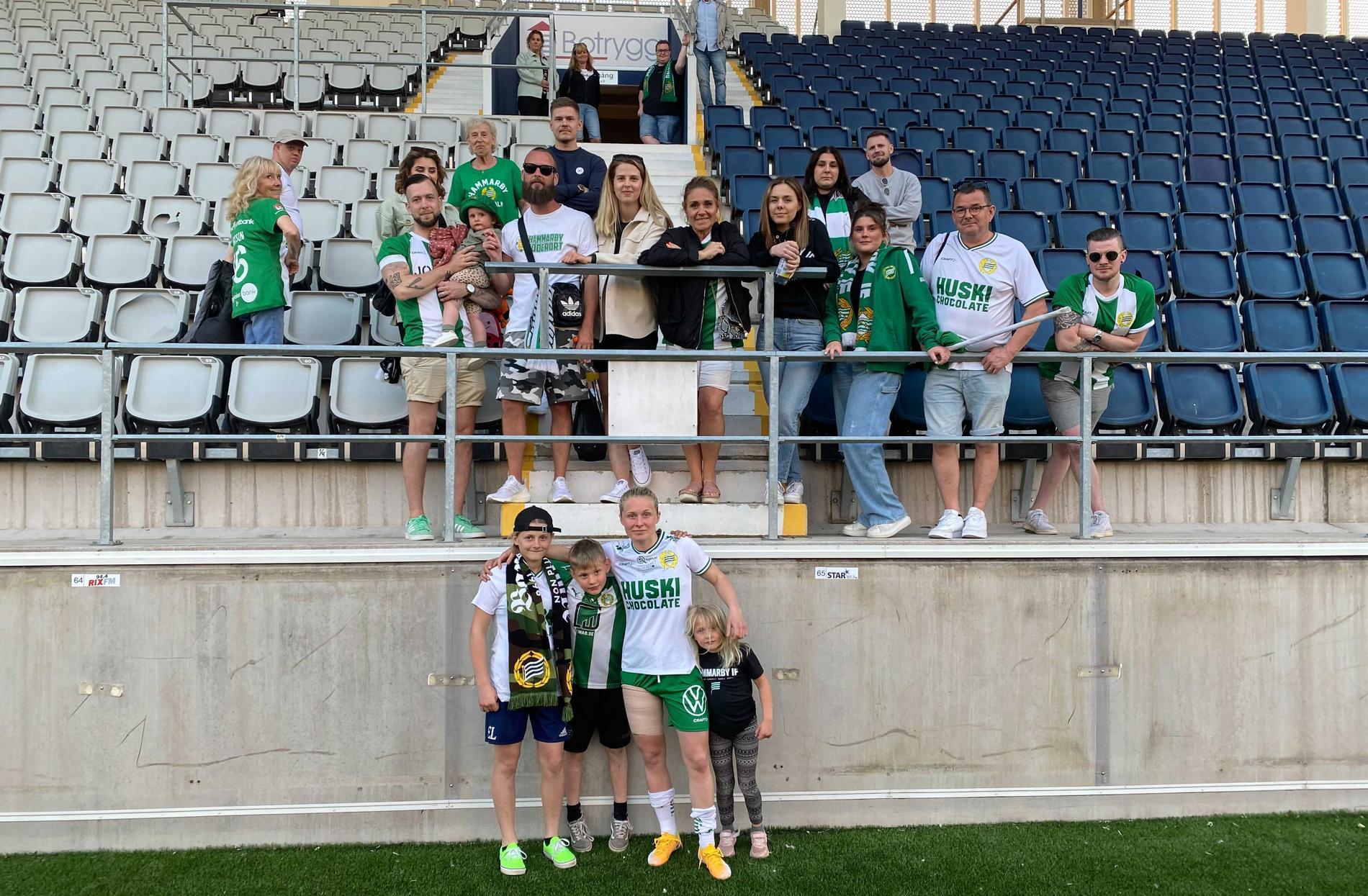 Hammarbys Emilia Larsson med familj och släkt