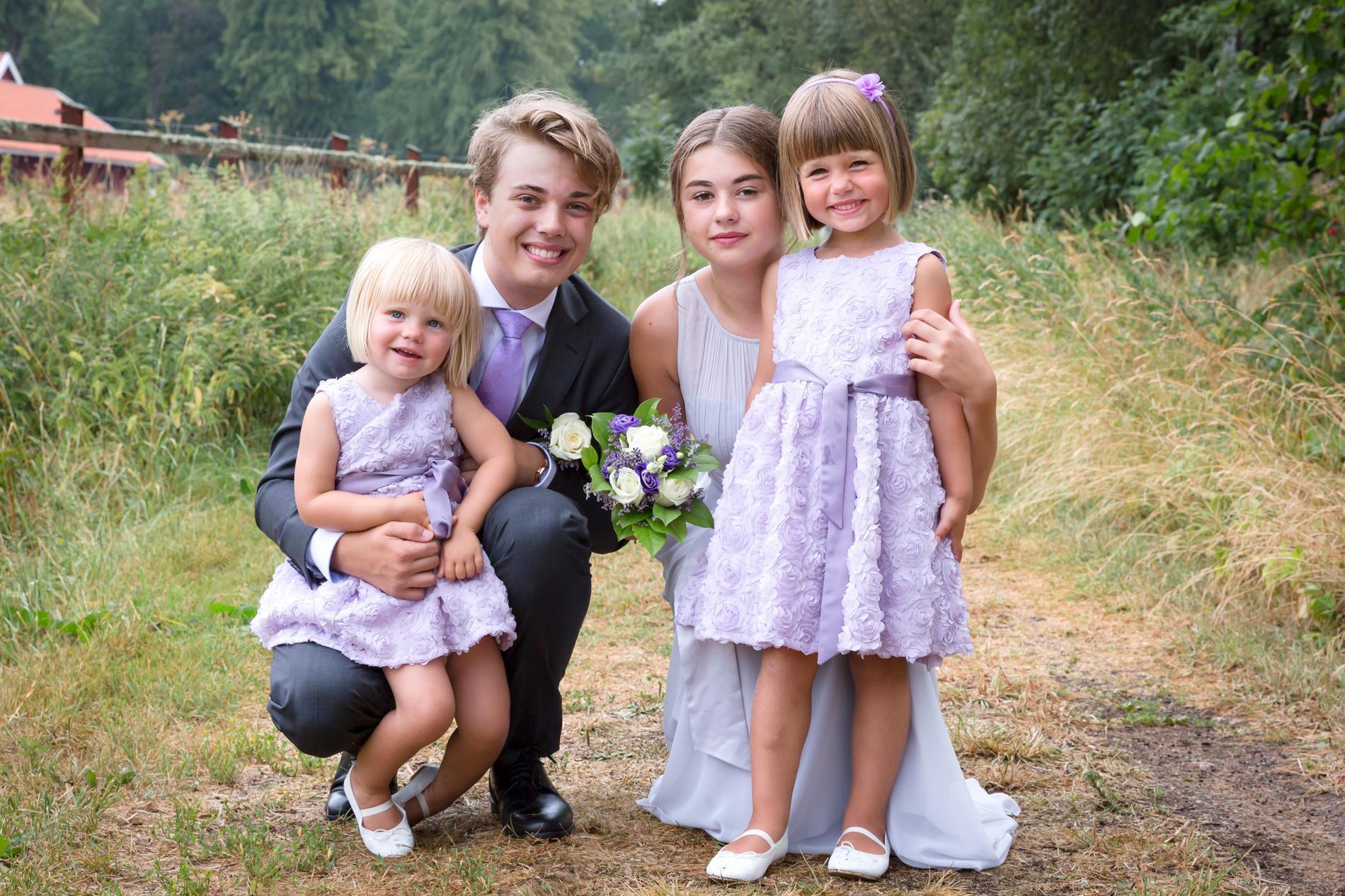 Roberts fyra barn.