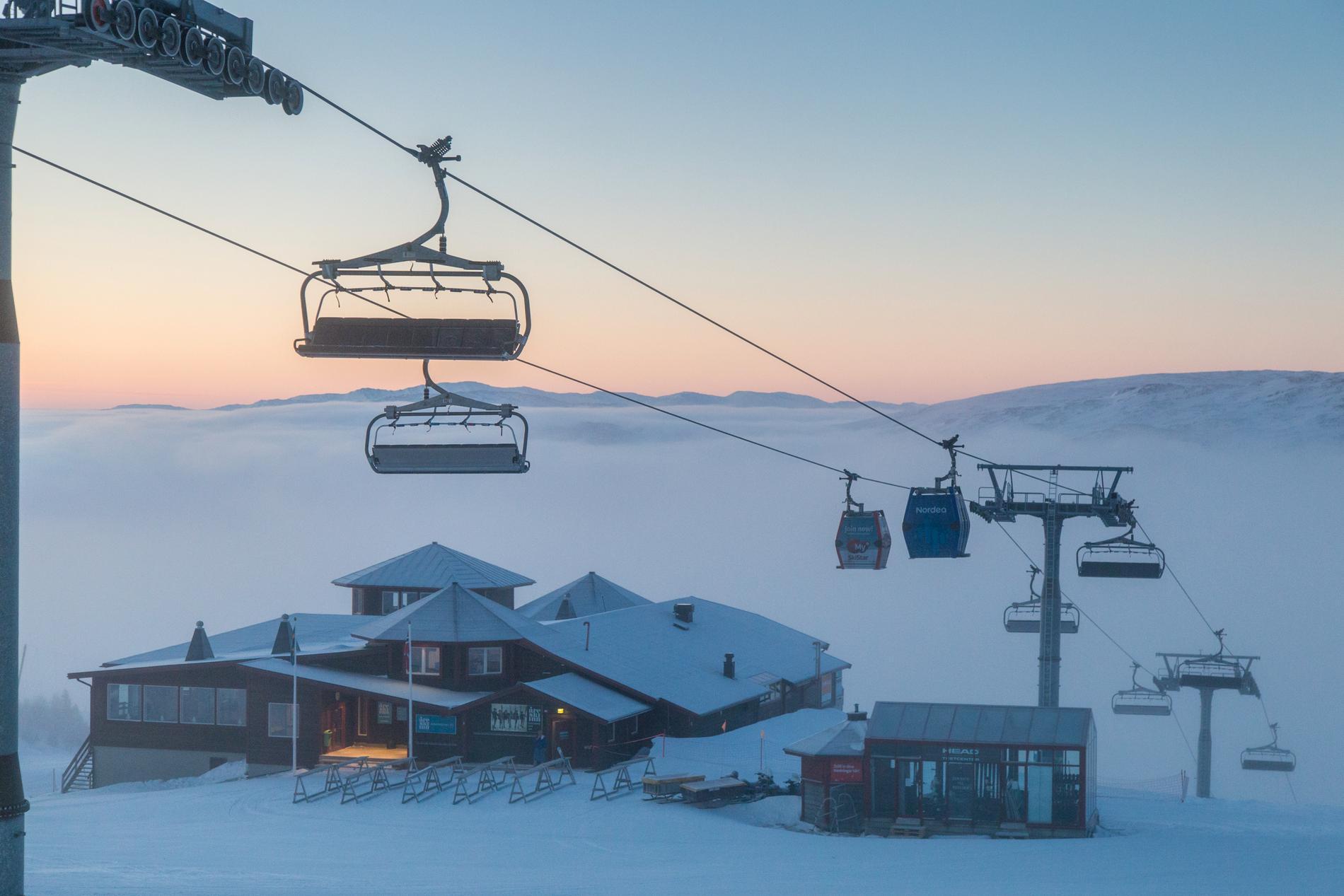 I Åre är vintern normal och backarna öppna.