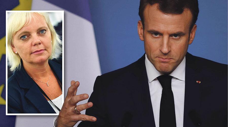 Macron vurmar för ett EU som förnyas i riktning mot ett överstatligt Europas förenta stater, skriver Kristina Winberg.