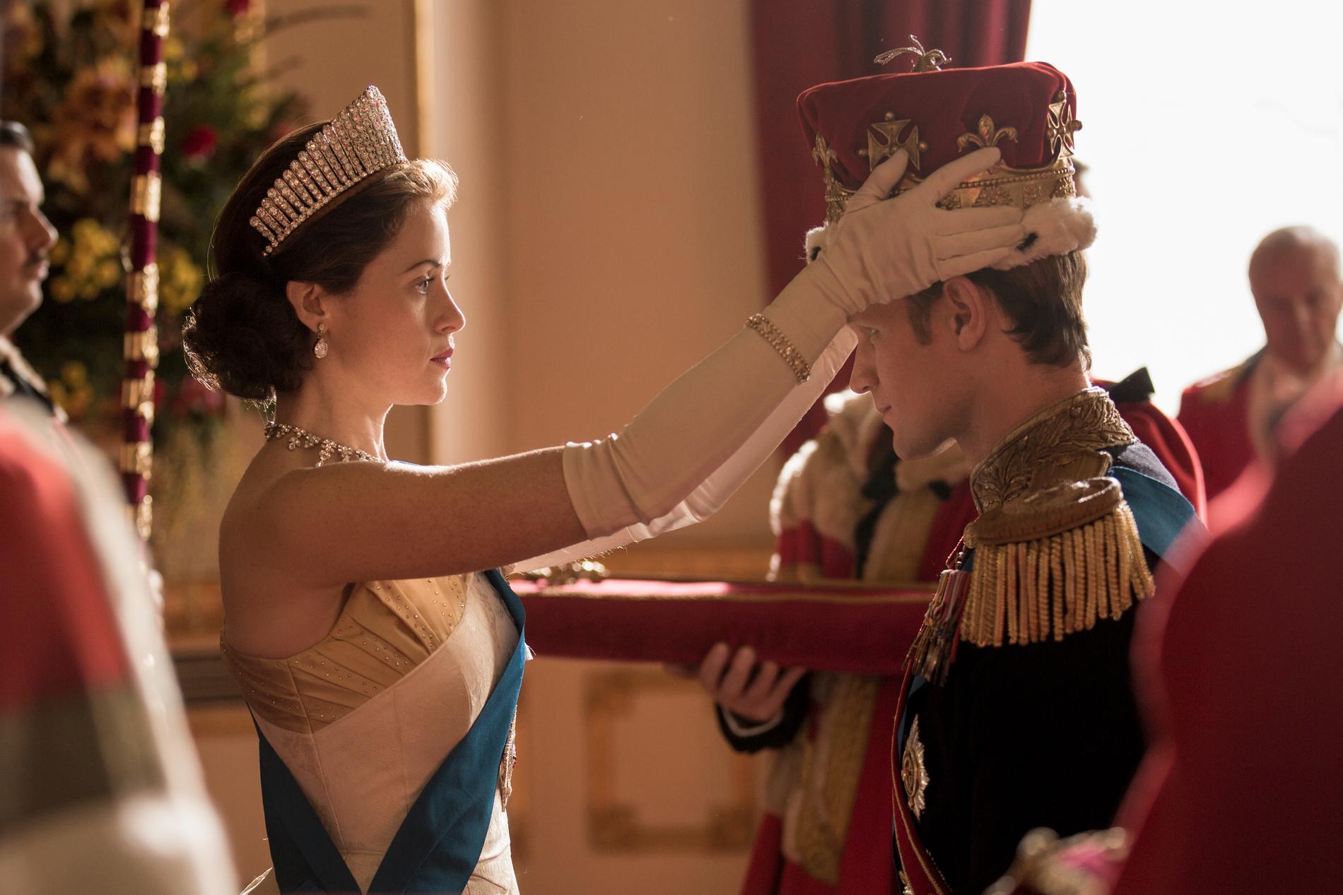 Claire Foy som drottning Elizabeth II.
