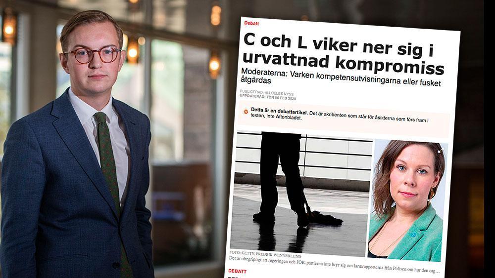 Att komma åt fusket genom att ta bort möjligheten till såkallat spårbyte är inte rätt väg framåt. Det finns andra bättre sätt. Att helt ta bort möjligheten straffar de personer som redan jobbar och betalarskatt i Sverige, skriver  Jonny Cato (C) i en replik till Moderaterna.