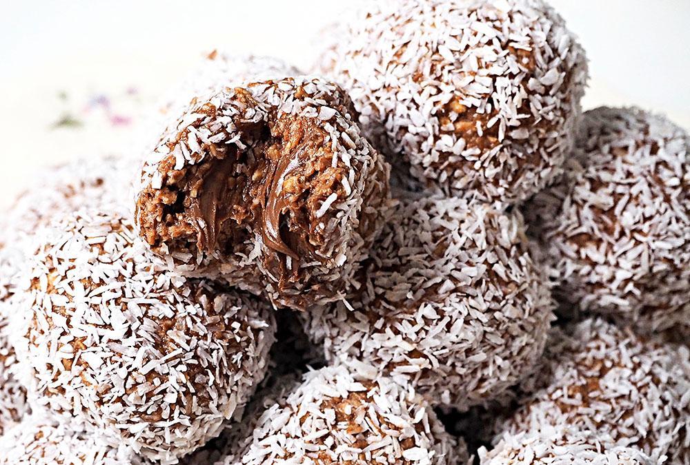 Chokladbollar med nutellagömma