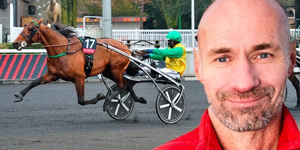 Micke Nybrink efter Björn Goops seger med Face Time Bourbon.