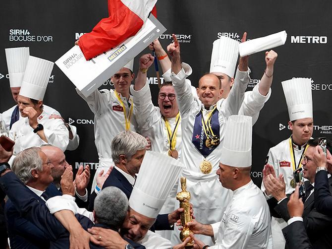 FRANKRIKE VANN: Davy Tissot till vardags på restaurang Saisons i Ecully utanför Lyon vann Bocuse D'Or, eller kock-VM, på hemmaplan.