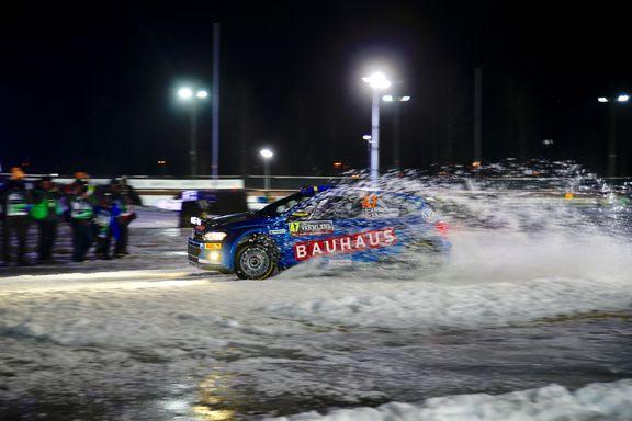Johan Kristoffersson inledde Rally Sweden 2019 bra, trots plusgrader och slask.