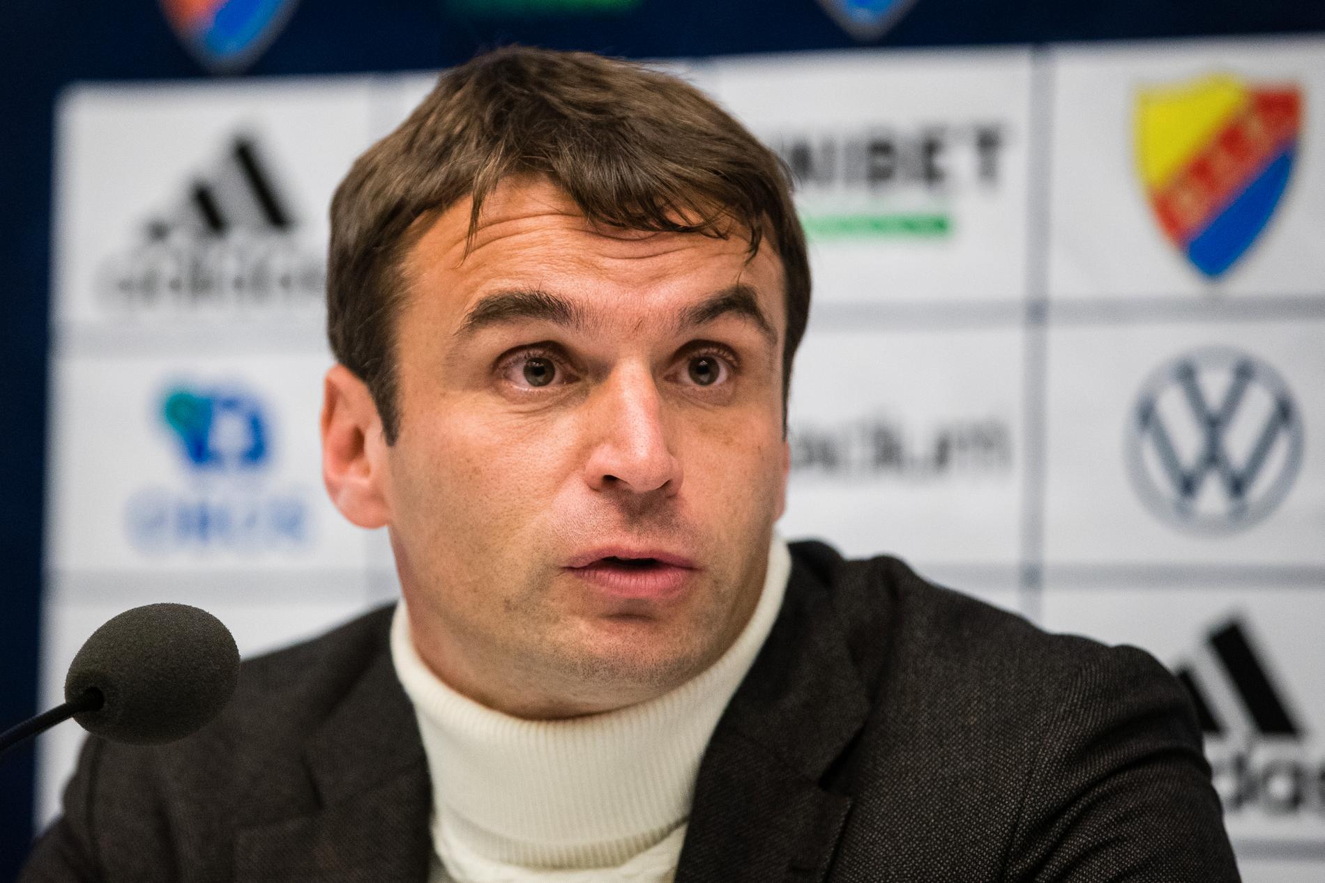Hammarbys tränare Milos Milojevic.
