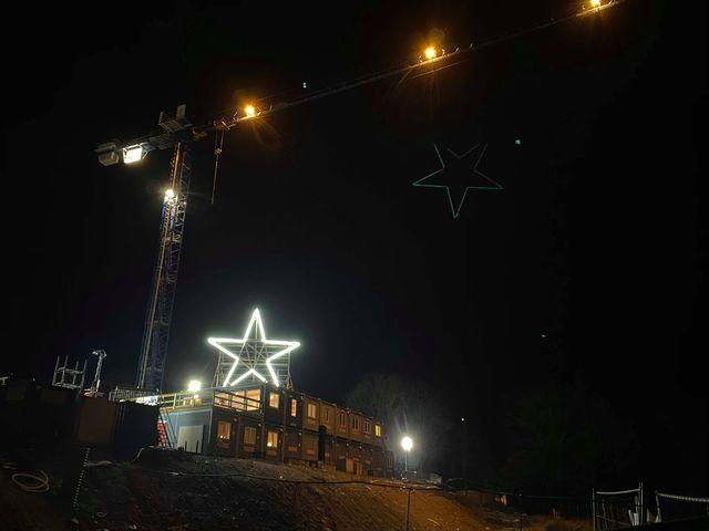 Från resecentrum i Jönköping kan de se stjärnan stråla.
