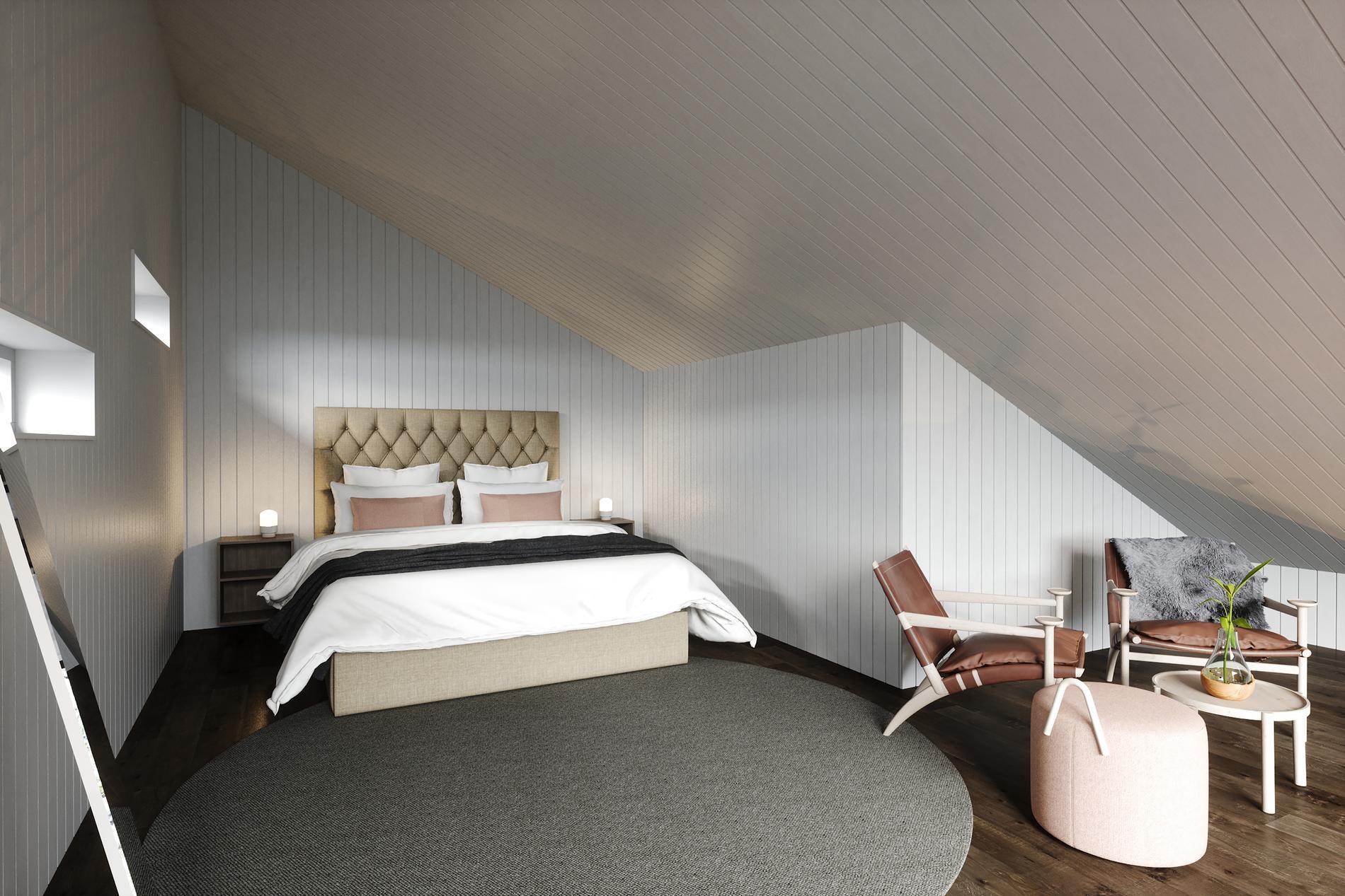 Suite – Den här stugan skiljer sig inte jättemycket från land. Skillnaden är att det är plats för två personer, inte fem.