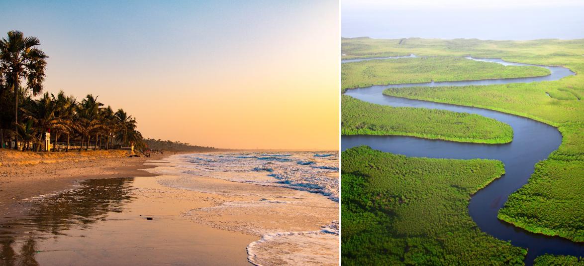 Stränder och flodliv väntar i Gambia.