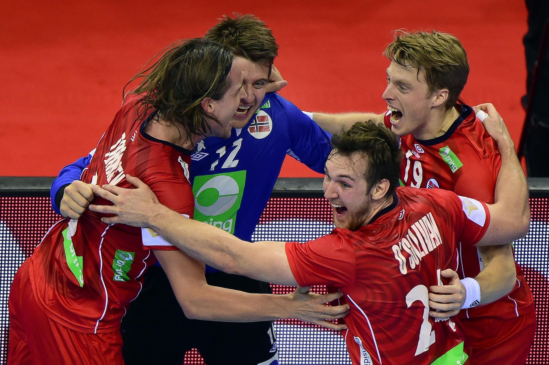 Norskt semifinaljubel.