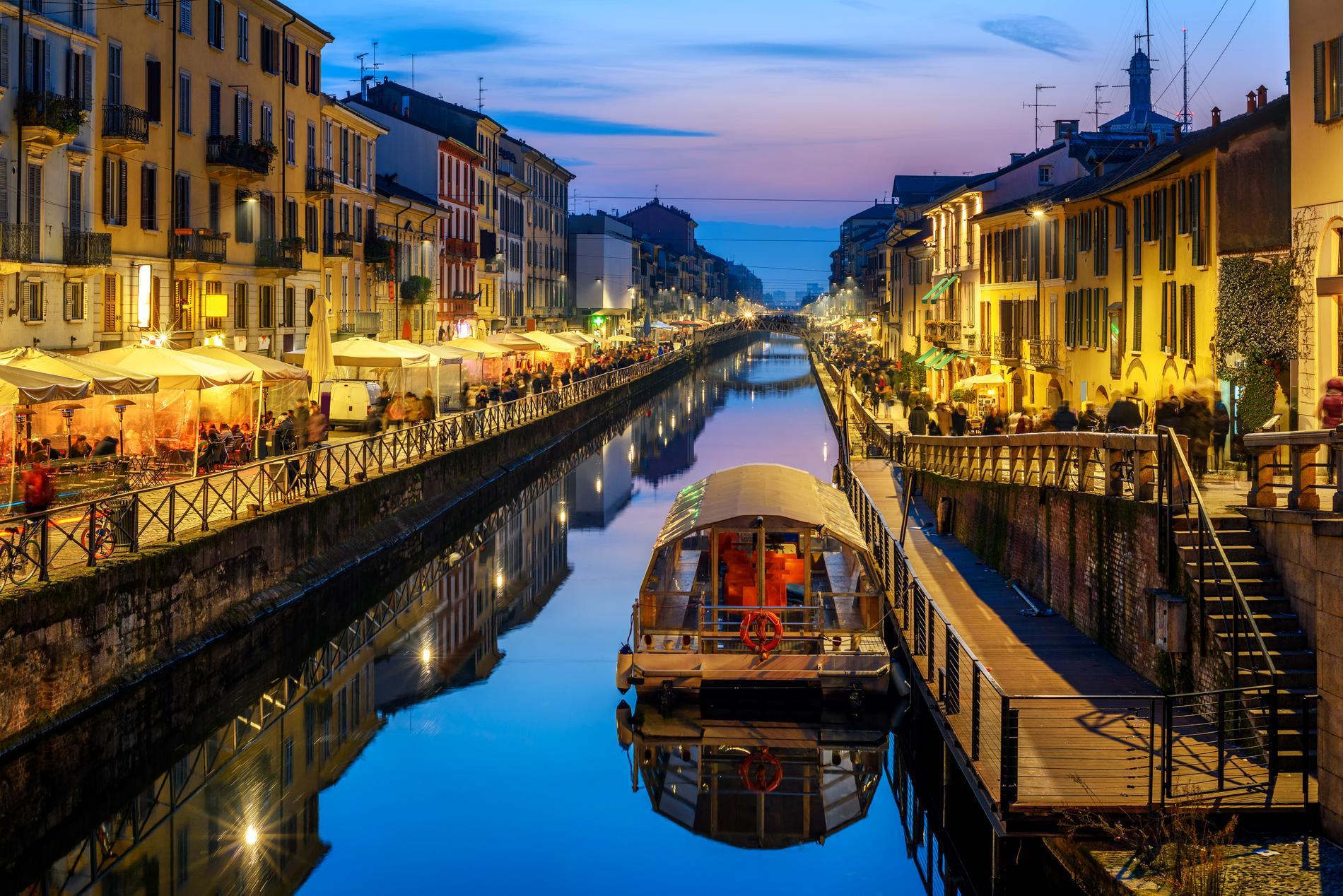 Navigli är ett mysigt område att besöka som turist.