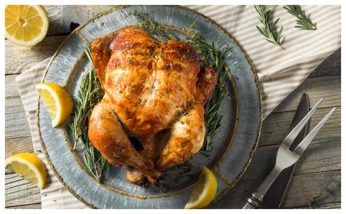 Kyckling i ugn, så gott.