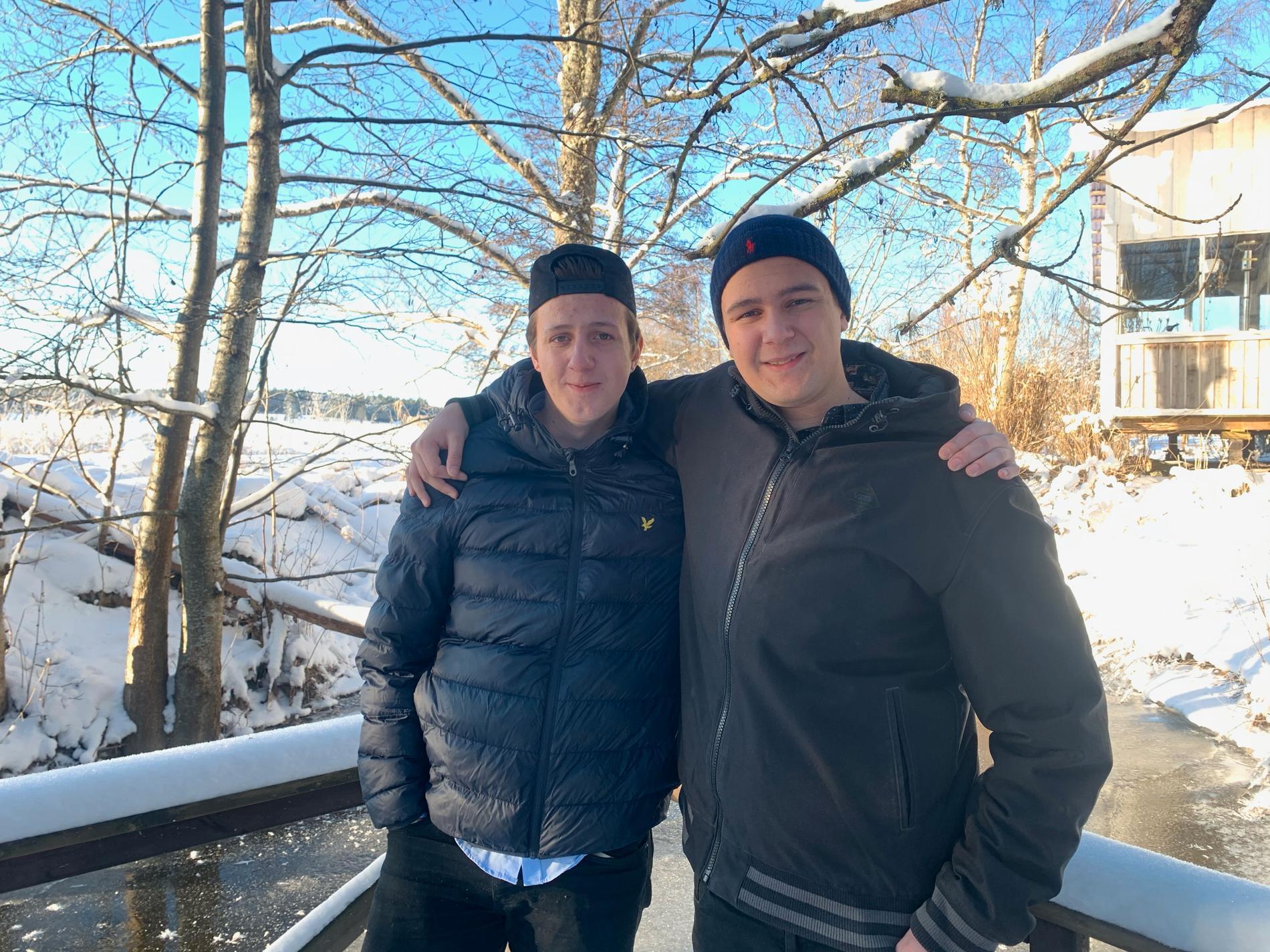 Bröderna Pontus och Linus Pettersson Carlberg.
