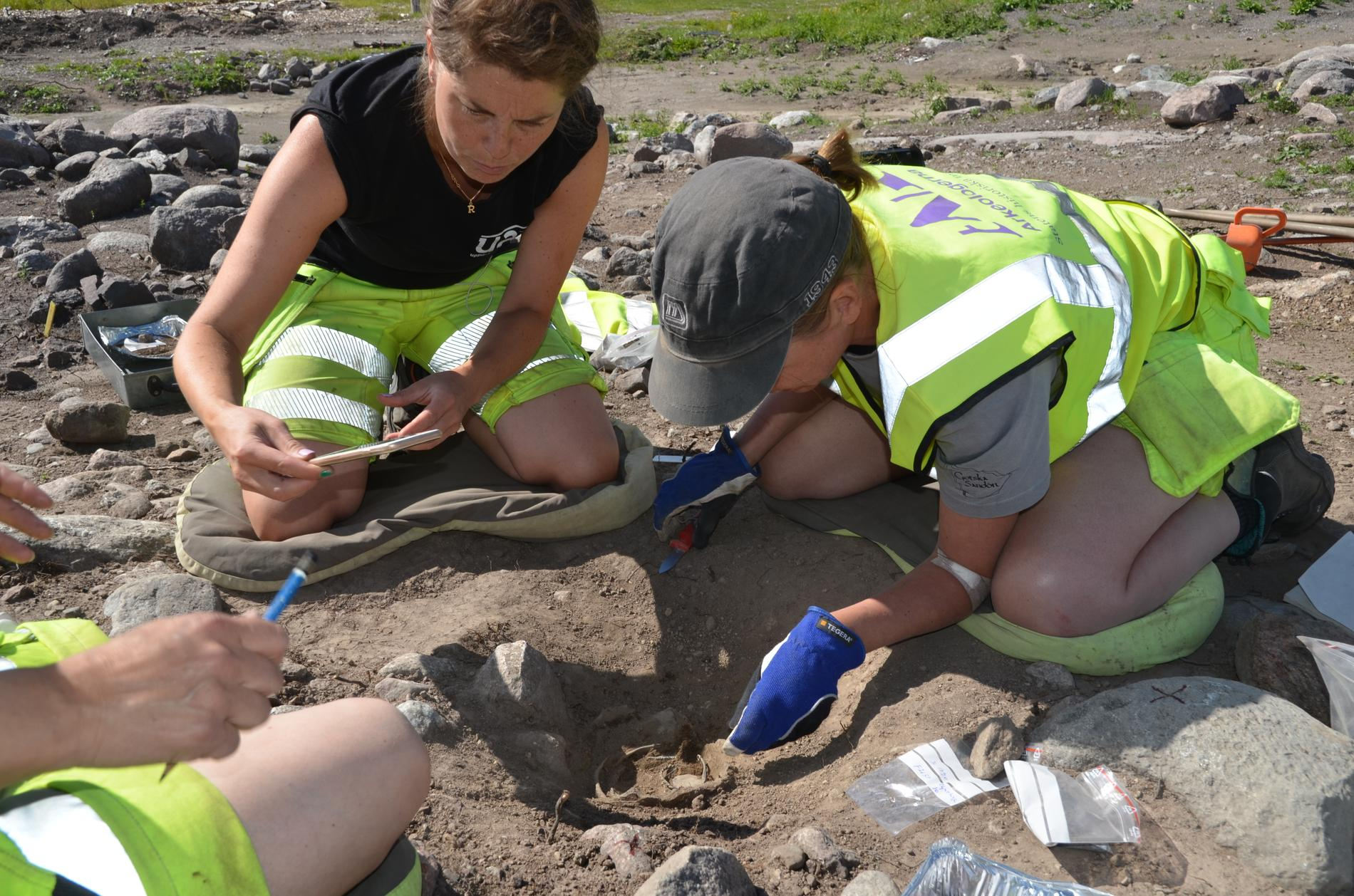 Arkelogerna från Historiska museer har varit på plats och grävt sedan juni.