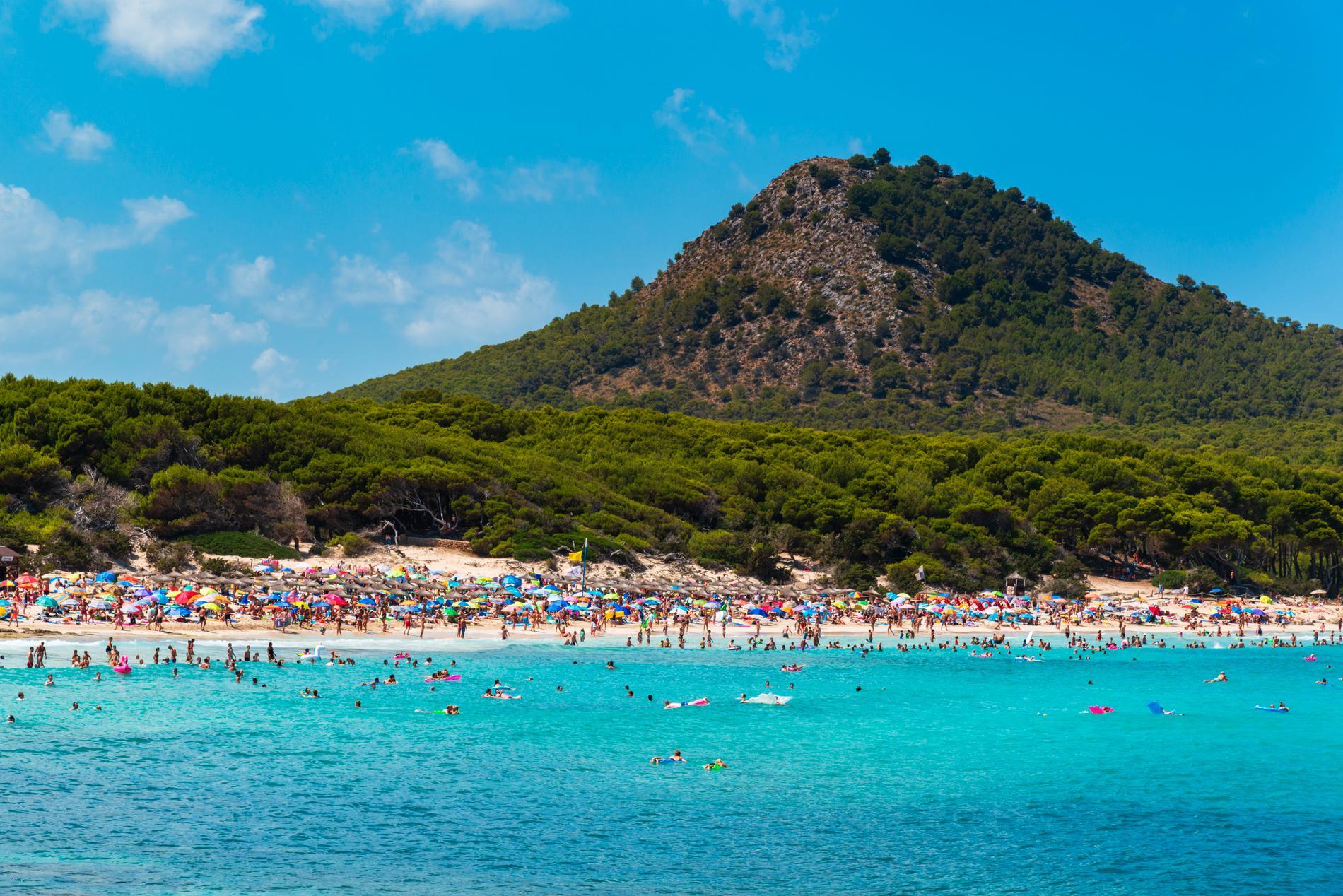 Mallorcas ständer blir fullpackade på sommaren.