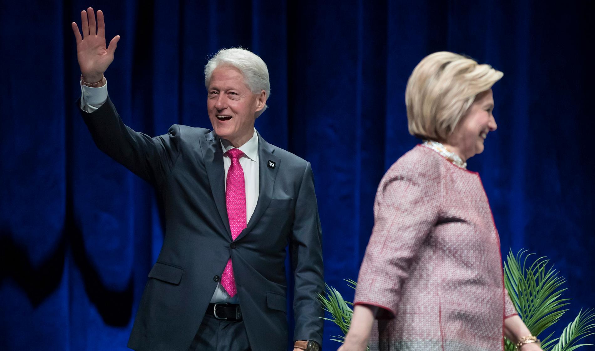 Bill Clinton och Hillary Clinton.
