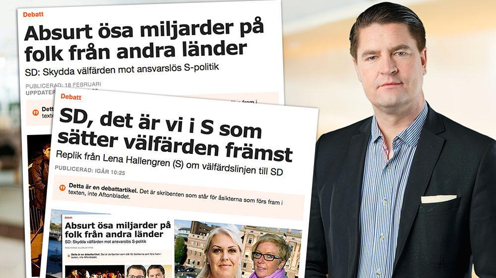 Regeringens arbetsgivare, det svenska folket, förtjänar en ursäkt, en ursäkt för att man låtit ett Socialdemokratiskt storhetsvansinne gå före folkets väl och ve. En ursäkt för att man inte tagit ansvar för migrationen, skriver Oscar Sjöstedt (SD) i en slutreplik till S.